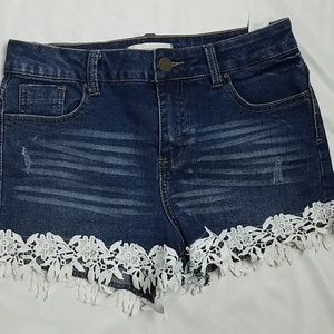 Urban Heritage Denim Shorts High Rise